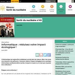 Informatique: réduisez votre impact écologique!