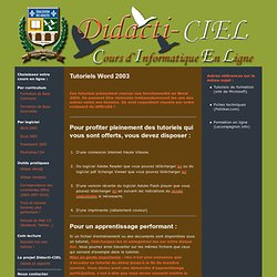 Cours d'informatique - Éducation aux adultes - Centre Christ-Roi, Mont-Laurier, Québec