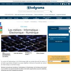 Fiches Métiers : Informatique - Electronique - Numérique - Studyrama.com