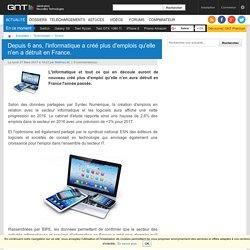 Depuis 6 ans, l'informatique a créé plus d'emplois qu'elle n'en a détruit en France.