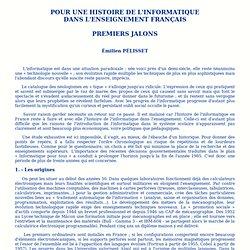 12 –Pour une histoire de l'informatique dans l'enseignement français