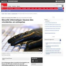 Sécurité informatique: hausse des «incidents» en entreprise