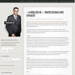"""""""la règle des 4D"""" : traiter ses mails avec efficacité - Blog informatique entrepriseBlog informatique entreprise"""