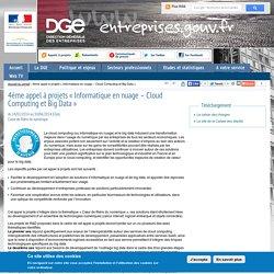4ème appel à projets « Informatique en nuage – Cloud Computing et Big Data »