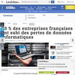 Sécurité informatique : 93 % des entreprises françaises ont subi des pertes de données