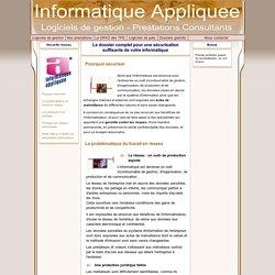 Sécurité réseau informatique et protection des données des entreprises avec Informatique Appliquée