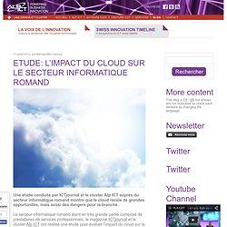 Etude: l'impact du cloud sur le secteur informatique romand