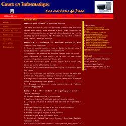 Informatique - Exercices - Word