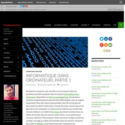 Informatique (sans ordinateur), partie 1
