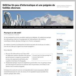 SiO2.be Un peu d'informatique et puis d'autres choses