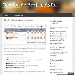 Modèle de Gantt d'un projet informatique « Gestion de Projets 2.0