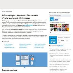 COURS INFORMATIQUE Gratuit : 13941 fiches pour apprendre l'informatique