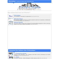 Guide des meilleurs sites d'Informatique 2012