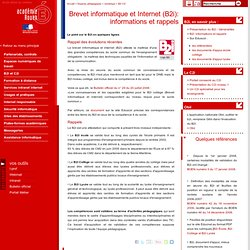 Brevet informatique &Internet B2i