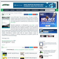 Livre PDF [ Sécurité informatique - Principes et méthode ] - Astuces informatiques