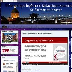 Informatique Ingénierie Didactique Numérique (2IDN) Se Former et Innover : CRN