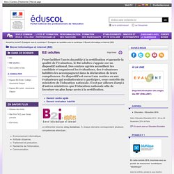 Brevet informatique et internet (B2i) - B2i adultes