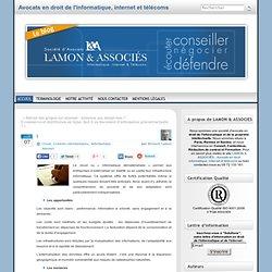 Le cloud : des opportunités à exploiter. « Bernard Lamon – Avocat spécialiste en droit de l'informatique et des télécommunications