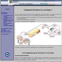 Recyclage Informatique - Législation pour le recyclage