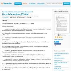 Livret Informatique BTS AM - Recherche de Documents - leila35150