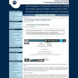 La loi Informatique et libertés et Big Data (vidéo)
