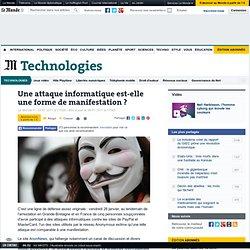 Une attaque informatique est-elle une forme de manifestation ?