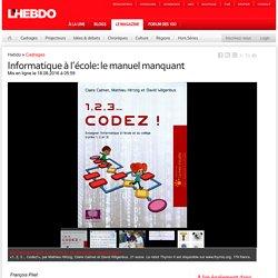 Informatique à l'école: le manuel manquant