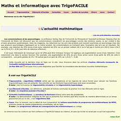 Maths et informatique avec TrigoFACILE ~ Mathématiques