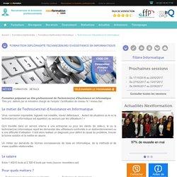 Formation diplômante Technicien Assistant Informatique niveau bac [Nextformation]