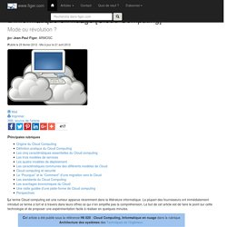 L'informatique en nuage [Cloud Computing]