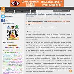 Informatique libre et territoires : une lecture philosophique des espaces numériques. - Le blog de l'association GOALL