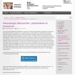 Informatique débranchée : présentation et ressources - DSDEN 55 : ressources numériques