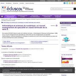 Informatique et sciences du numérique - Présentation