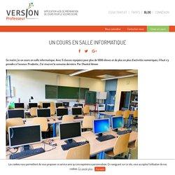 Un cours en salle informatique