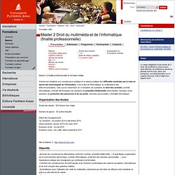 Master 2 Droit du multimédia et de l'informatique (finalité professionnelle)