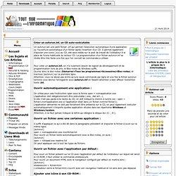 Créer un autorun.inf, un CD auto exécutable Tout sur l'informatique - Programmation C#, Sécurité, Divx, P2P