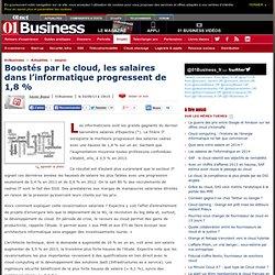 Boostés par le cloud, les salaires dans l'informatique progressent de 1,8 %