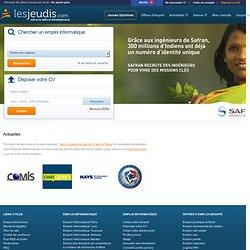 Emploi informatique et recrutement avec Lesjeudis