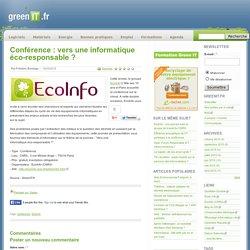 Conférence : vers une informatique éco-responsable