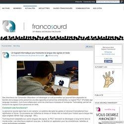 Un logiciel informatique pour transcrire la langue des signes en texte - Espace Francosourd