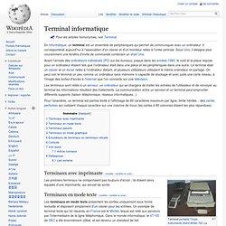 Terminal informatique