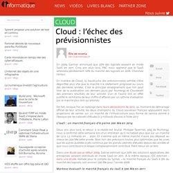 Cloud : l'échec des prévisionnistes