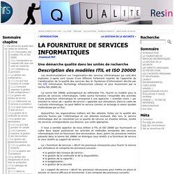 LA FOURNITURE DE SERVICES INFORMATIQUES « Guide de Bonnes Pratiques pour les Administrateurs Systèmes et Réseaux