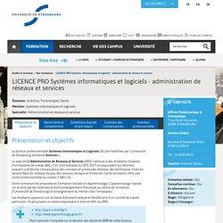 Université de Strasbourg : LICENCE PRO Systèmes informatiques et logiciels - administration de réseaux et services