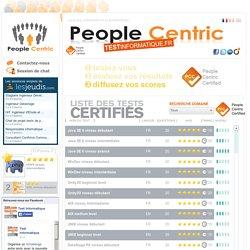 Tests informatiques pour une certification en ligne