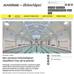 Des serveurs informatiques chauffent l'eau de la piscine - Entreprises - Emploi - Auvergne Rhône Alpes