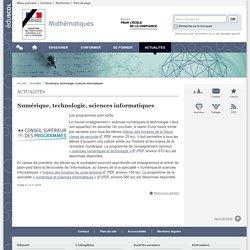 Numérique, technologie, sciences informatiques-Mathématiques-Éduscol