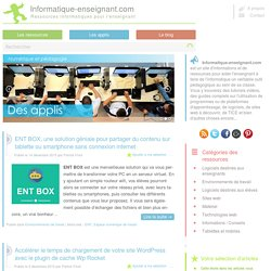 Ressources informatiques et pédagogiques pour l'enseignant (TICE)