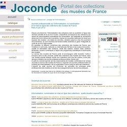 Joconde - espace professionnel - pilotage de l'informatisation - journée professionnelle 8 juin 2012