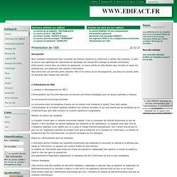 change de données informatisées pour l'administration, le commerce et le transport ) - Présentation de l EDI